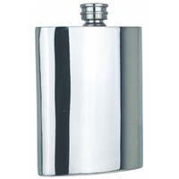 Plain Straight 6oz Pewter Hip Flask