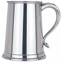 Swan Handled Two Line One Pint Pewter Tankard