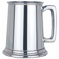 Plain Straight Half Pint Pewter Tankard
