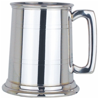 Two Line Straight Half Pint Pewter Tankard
