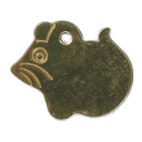 Brass Mouse Pet Tag 26mm