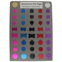 Aluminium Pet Tag Starter Pack and Board