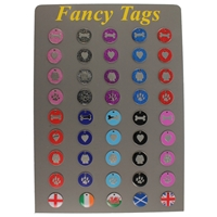 Enamel Fancy Tag Starter Pack and Board (Includes Display Board And 135 Tags)