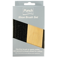 Punch Shoe Brushes Medium Twin Pack