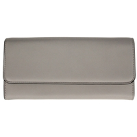Faux Leather Large Fold Over Concertina Purse Grey