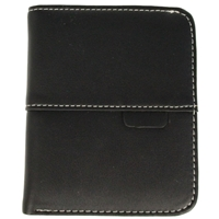 Faux Leather Ladies Folding Wallet Black