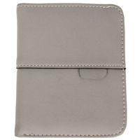 Faux Leather Ladies Folding Wallet Grey