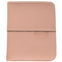 Faux Leather Ladies Folding Wallet Pink