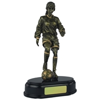 8 1/4 Inch Female Footballer Gold