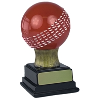 5 Inch Resin 3D Cricket Ball Red With White Detail