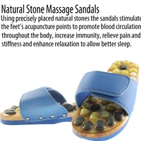 Natural Stone Massage Sandals Dual Size 7-8 Large - Blue