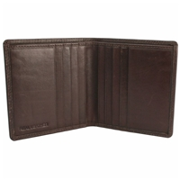 Cow Nappa Shirt Wallet Dark Brown