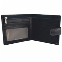 Cow Nappa Wallet With Tab And Zip Black