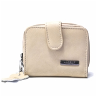 Cowhide Zip Purse Assorted Colours