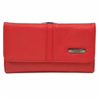Cowhide 17cm 2 Side Purse Assorted Colours RFID