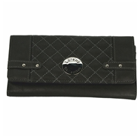Quilted Style Long Flap Over Purse