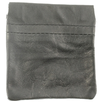 Nappa Leather Snap Top Change Purse Black
