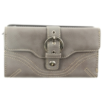 Buckle Detail Back Zip Purse Assorted Colours