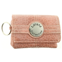 Textured Grain Small Purse Including Keyring.Asst Colours