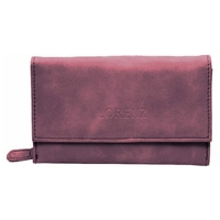 Faux Suede Purse with Flap Assorted Colours