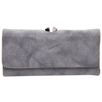 Faux Suede Purse With Flap and Twist Catch. Assorted Colours
