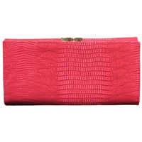 Patent PU Purse With Flap & Outer Clip Top Asst Colours