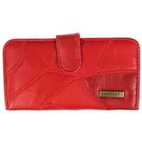 Leather Patch Purse Tab & Clasp Top, Inner Window, Assorted Colours