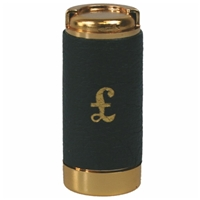 Pound Coin Holder With Leather Cover