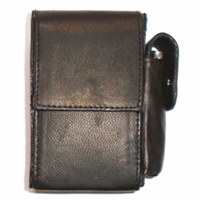 Nappa Leather Cigarette Case With Lighter Pouch. Black