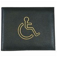 Leather Disabled Badge Holder Black