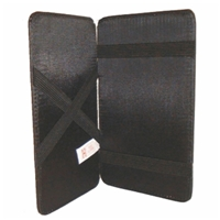 Black PU Magic Wallet 6 x 4 Inch Easy Access To Notes