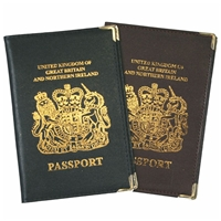 Leather Euro Passport Cover Assorted Colours