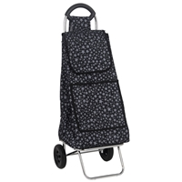 Windsor 2 Wheel Shopping Trolley, Black With White Star