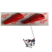 D910925ZR Silca Red Cover For Lancer Plus Handle Left& Right