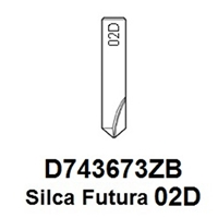 D743673ZB - Silca Futura 02D Dimple Cutter To Suit Magnum