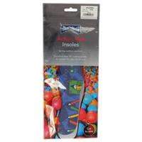 Shoe-String Childs Pencil Print Insoles, Cut To Size