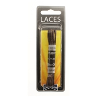 Shoe-String Blister Pack Laces 60cm Wax Brown