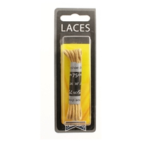 Shoe-String Blister Pack Laces 75cm Round Beige