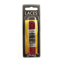 Shoe-String Blister Pack Laces 75cm Flat Burgundy