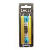 Shoe-String Blister Pack Laces 75cm Wax 2.5mm Round Turquoise