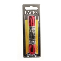 Shoe-String Blister Pack Laces 75cm Waxed 5mm Flat Red