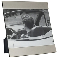8 X 10 Inch Silver Plated Modern Picture Frame