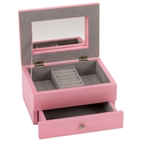 Pink Jewellery Box With Drawer 17.5 X 12.5 X 9cm