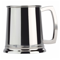 Plain One Pint Stainless Steel Tankard