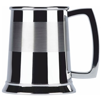 Satin Band One Pint Stainless Steel Tankard
