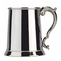Georgian Handle One Pint Stainless Steel Tankard