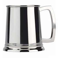 Plain One Pint Polished Stainless Steel Tankard