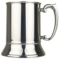 Plain One Pint Slim Polished Stainless Steel Tankard