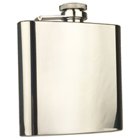 6oz High Polish Stainless Steel Hip Flask