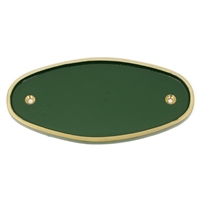 Cast Brass Large Oval Sign Green 200 x 100 mm